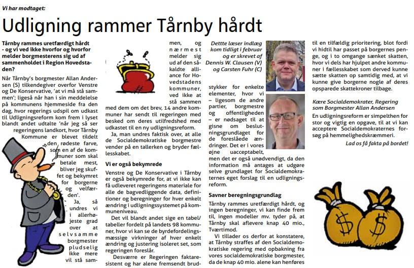 Indlæg i Tårnby Bladet